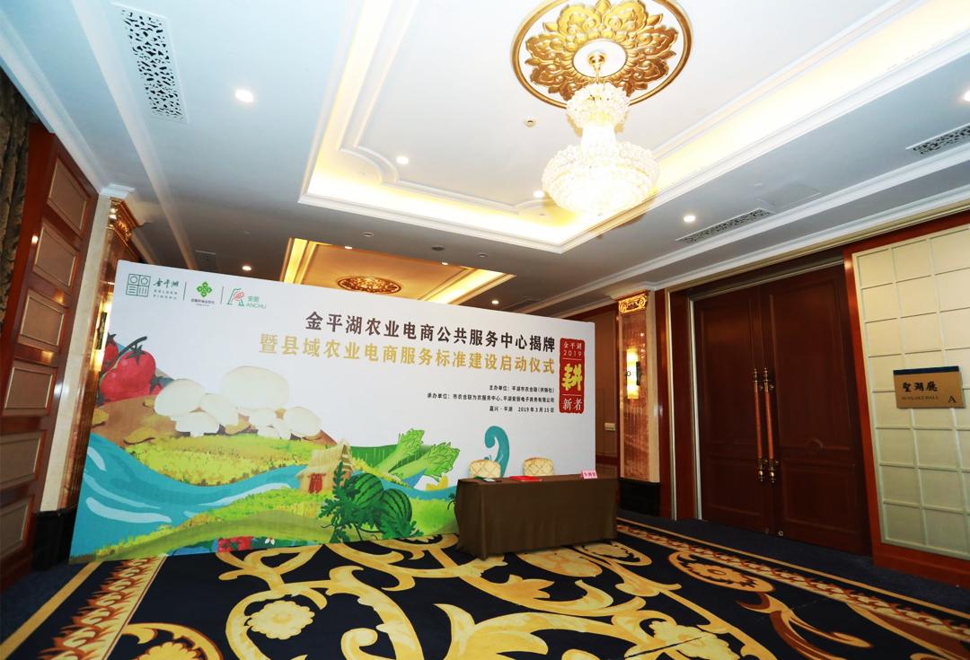 农业电商服务标准发布会序厅设计