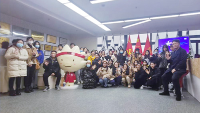 浙江农林大学暨阳学院人文学院广告系师生来访参观学习