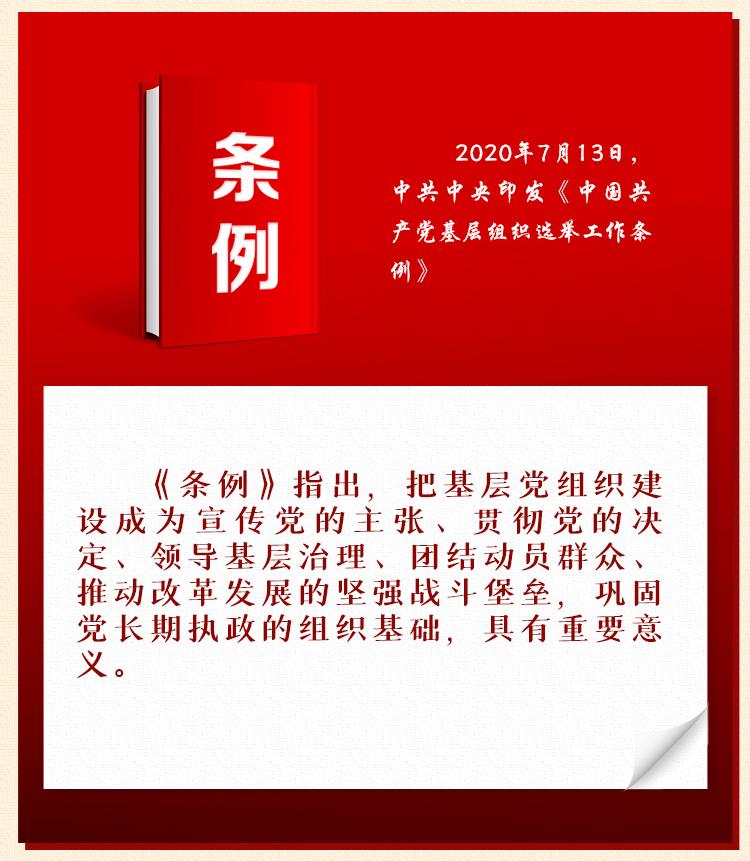 《中国共产党基层组织选举工作条例》