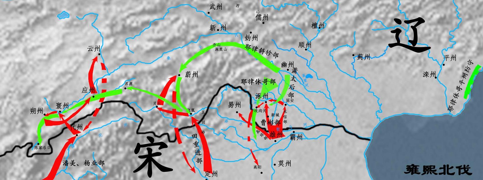 雍熙北伐宋辽军事形势图