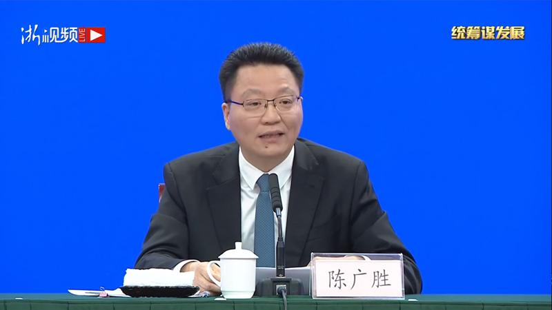 浙江省防控工作领导小组办公室常务副主任、省政府副秘书长陈广胜