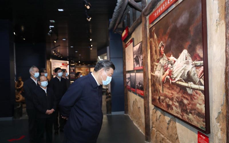 习总书记参观红军长征湘江战役纪念馆