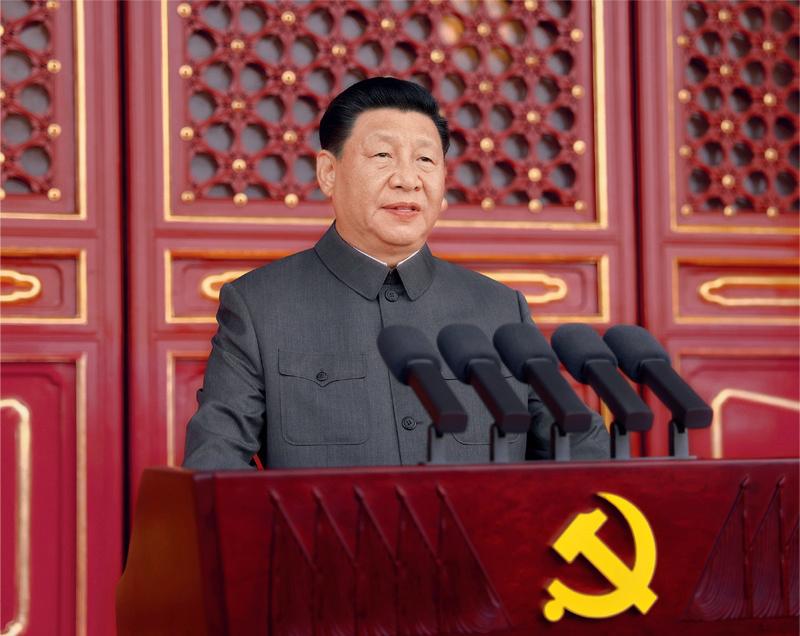习近平总书记出席庆祝中国共产党成立100周年大会